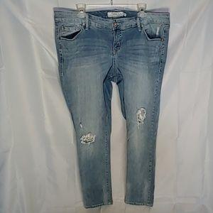 Torrid boyfriend distresed jeans 16